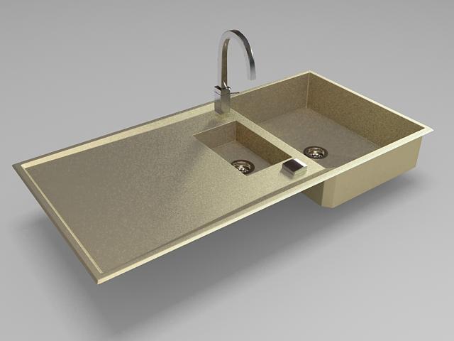 Kitchen sink design 3d rendering