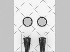 Pedestal basin design 3d preview