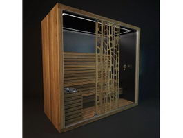 Infrared sauna room 3d preview