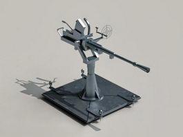 Machine gun turret 3d preview