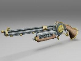 Old antique gun 3d model preview