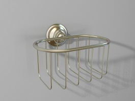 Wall mount soap basket 3d preview
