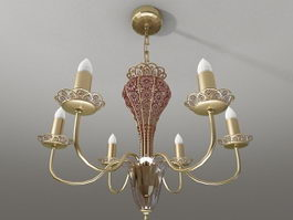 Colonial Brass Chandelier 3d preview