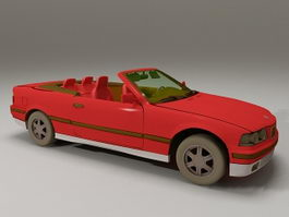 BMW 325i Convertible 3d model preview