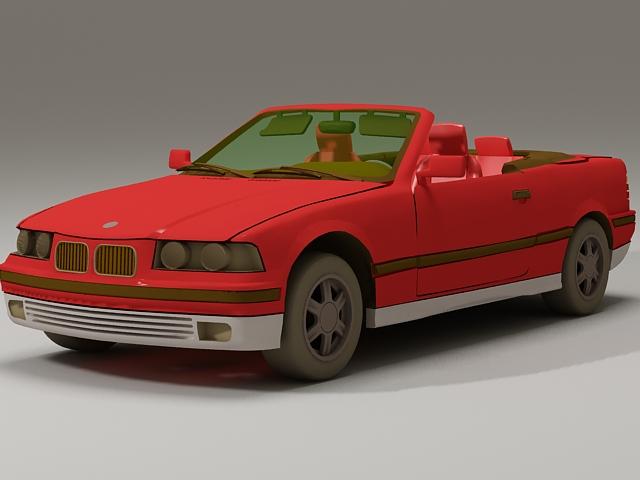 BMW 325i Convertible 3d rendering