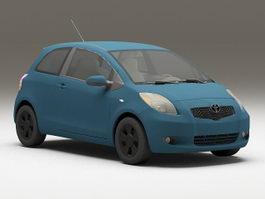 Toyota Echo hatchback 3d model preview
