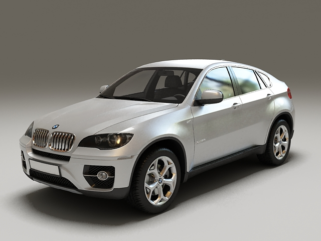 BMW X6 E71 SUV 3d rendering