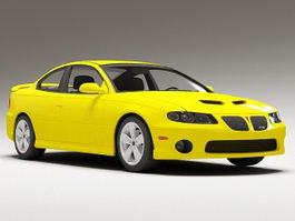 Pontiac GTO Yellow 3d preview