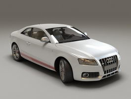 Audi S5 Coupe White 3d preview