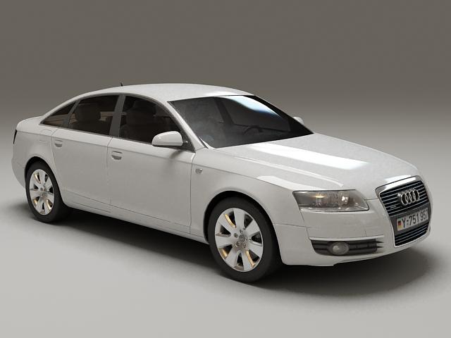2012 Audi A6 Hybrid 3d rendering