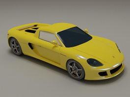 Porsche Carrera GT yellow 3d preview