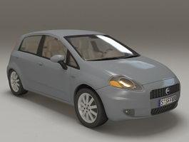 Fiat Punto supermini car 3d preview