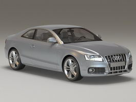 Audi S5 Coupe Gray 3d preview