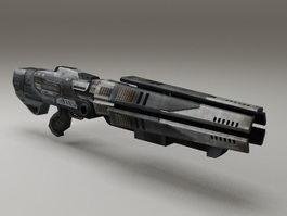 Sci-Fi Gun Low Poly 3d model preview