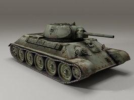 Russian T-34-76 Tank 3d model preview