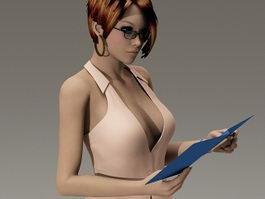Sexy secretary 3d preview