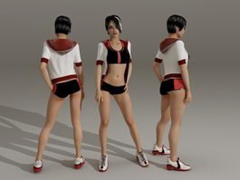 Adult Cheerleader Girl 3d preview
