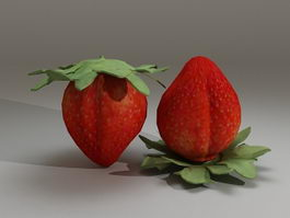 Fresh Strawberries 3d preview