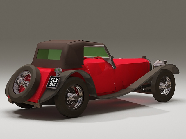 1939 Jaguar SS100 3d rendering