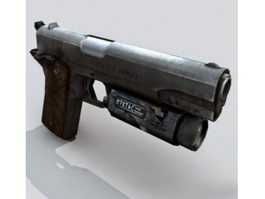 M1911 pistol with laser 3d preview