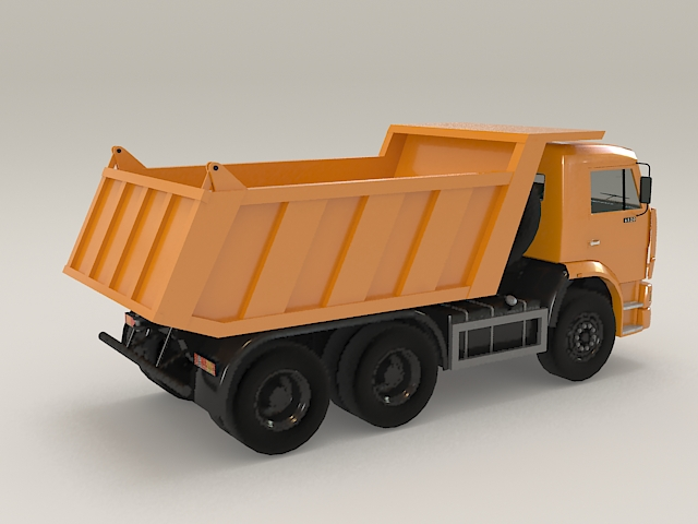 Construction dump truck 3d rendering