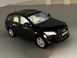 Audi Q7 Black 3d model preview