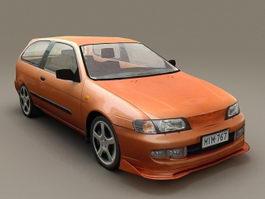 Orange Pinto Wagon 3d preview
