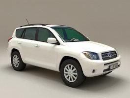 Toyota RAV4 White 3d preview