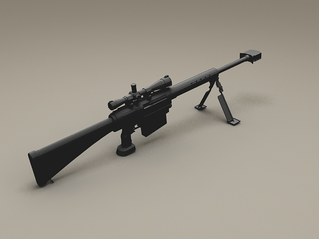 M16 Sniper Rifle 3d rendering
