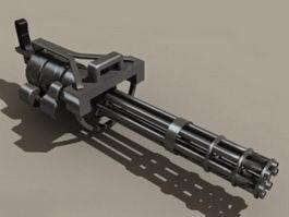 Predator M134 Minigun 3d model preview