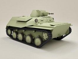 Soviet Light Tank T40 3d model preview