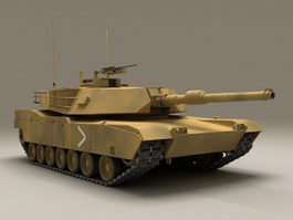 US Marines M1A1 Abrams Tank 3d model preview