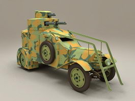 WW2 Armoured recovery vehicle 3d model preview