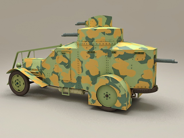 WW2 Armoured recovery vehicle 3d rendering