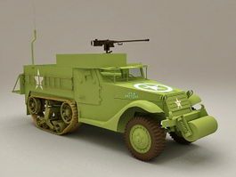 M3 Half-track personnel carrier 3d model preview