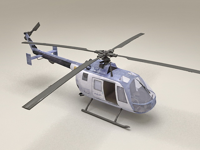 Light Utility Helicopter 3d rendering