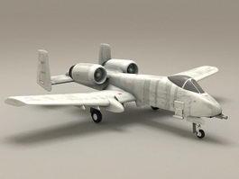 A10 Thunderbolt Warthog Fighter Aircraft 3D Model
