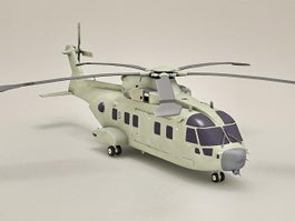 AW101 Helicopter Merlin 3d model preview