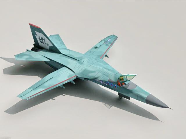 F-111 Aardvark Fighter Bomber 3d rendering