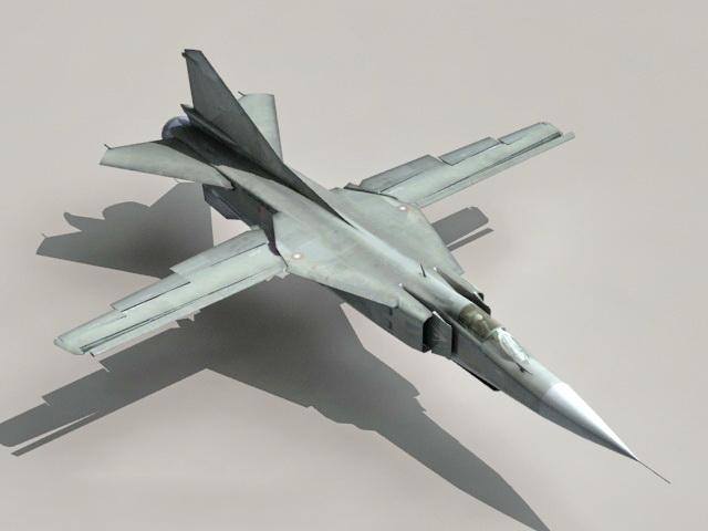 MIG-23 Flogger 3d rendering