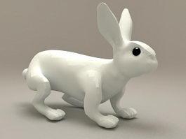 Ceramic Rabbit Decoration 3d model preview