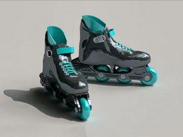 Inline Roller Skates 3d preview