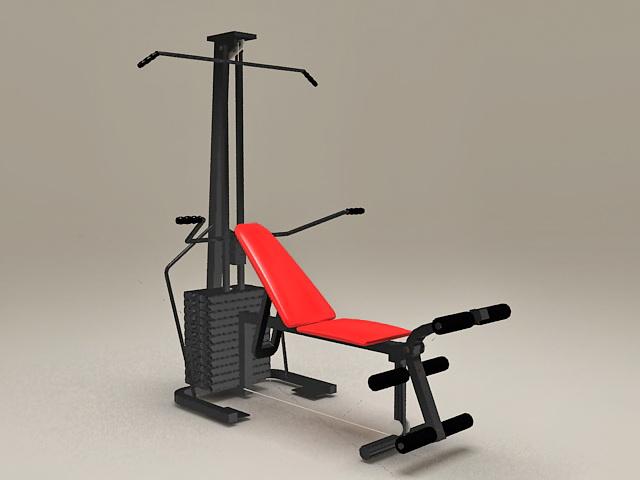 Home Gym Fitness Equipment 3d rendering