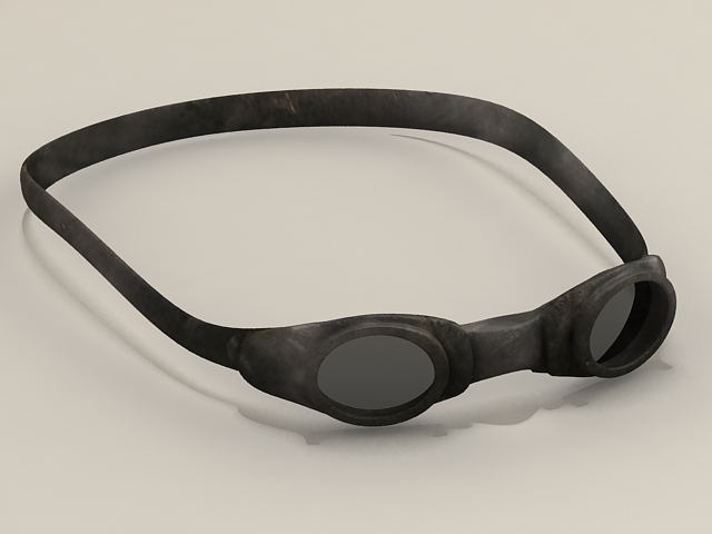 Swimming goggles 3d rendering