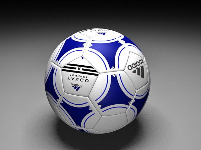 Adidas Soccer Ball 3d rendering