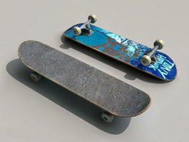 Skateboard 3d preview