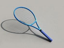 Blue Tennis Racket 3d model preview