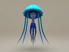 Bule Jellyfish 3d model preview
