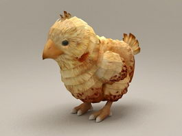 Baby Chicken 3d model preview