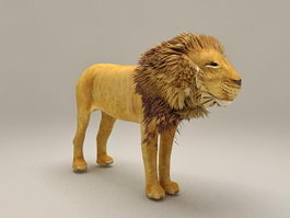 African Lion 3d preview